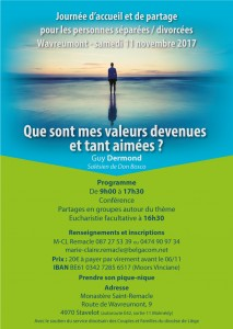 Journée de rencontre et de partage pour les personnes séparées/divorcées @ Monastère de Wavreumont | Stavelot | Wallonie | Belgique