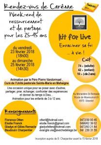 Rendez-vous de carême des 25+ @ Monastère Saint-Remacle | Malmedy | Wallonie | Belgique