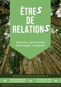 Etres de relation : retraite spirituelle d'écologie intégrale @ Monastère Saint-Remacle